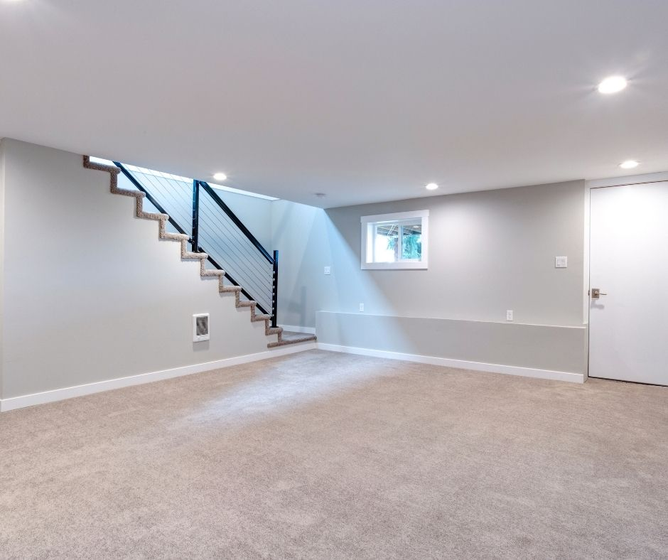 open concept finished basement