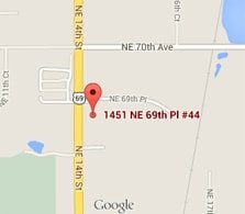 service area image with pin in 1451 NE 69th Pl #44 Ankeny, IA 50021
